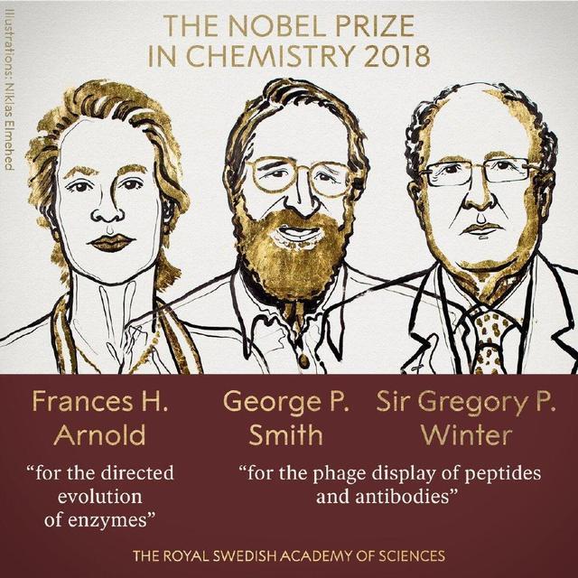 2018诺贝尔化学奖揭晓:三人因酶催化研究分享诺奖